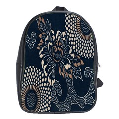 Patterns Dark Shape Surface School Bags (XL)