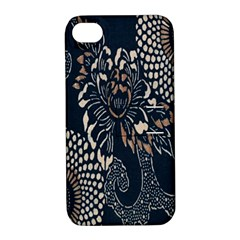 Patterns Dark Shape Surface Apple iPhone 4/4S Hardshell Case with Stand