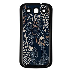 Patterns Dark Shape Surface Samsung Galaxy S3 Back Case (black)