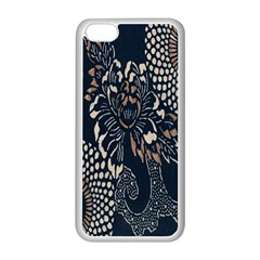 Patterns Dark Shape Surface Apple iPhone 5C Seamless Case (White)
