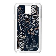 Patterns Dark Shape Surface Samsung Galaxy Note 3 N9005 Case (White)