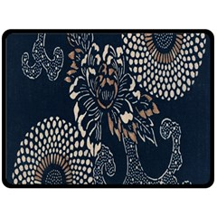 Patterns Dark Shape Surface Double Sided Fleece Blanket (Large)
