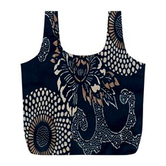 Patterns Dark Shape Surface Full Print Recycle Bags (L)