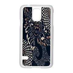 Patterns Dark Shape Surface Samsung Galaxy S5 Case (White)