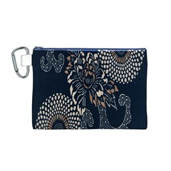 Patterns Dark Shape Surface Canvas Cosmetic Bag (m)