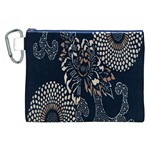 Patterns Dark Shape Surface Canvas Cosmetic Bag (XXL) Front
