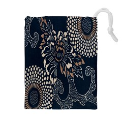 Patterns Dark Shape Surface Drawstring Pouches (extra Large)