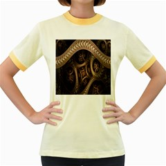 Patterns Dive Background Women s Fitted Ringer T-Shirts