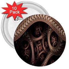 Patterns Dive Background 3  Buttons (10 pack)