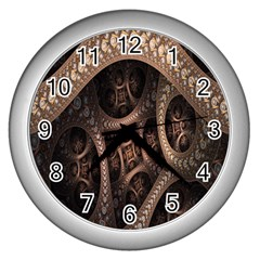 Patterns Dive Background Wall Clocks (Silver)