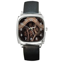 Patterns Dive Background Square Metal Watch