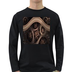 Patterns Dive Background Long Sleeve Dark T-Shirts