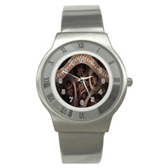 Patterns Dive Background Stainless Steel Watch