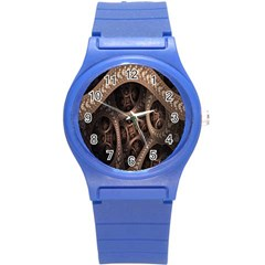 Patterns Dive Background Round Plastic Sport Watch (S)