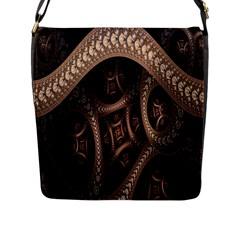 Patterns Dive Background Flap Messenger Bag (L)