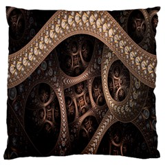 Patterns Dive Background Large Flano Cushion Case (two Sides)
