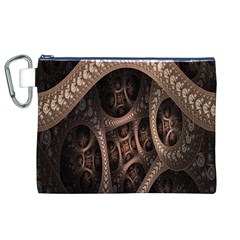 Patterns Dive Background Canvas Cosmetic Bag (XL)