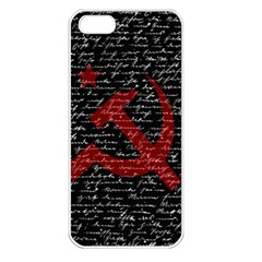 Communism  Apple iPhone 5 Seamless Case (White)