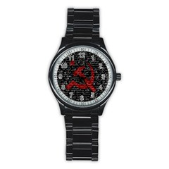 Communism  Stainless Steel Round Watch
