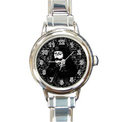 Count Vlad Dracula Round Italian Charm Watch