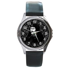 Count Vlad Dracula Round Metal Watch