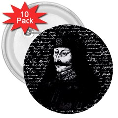 Count Vlad Dracula 3  Buttons (10 pack)