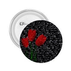 Red tulips 2.25  Buttons