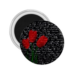 Red tulips 2.25  Magnets