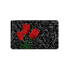 Red tulips Magnet (Name Card)