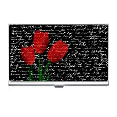 Red tulips Business Card Holders