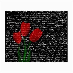 Red tulips Small Glasses Cloth