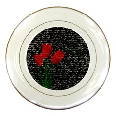 Red tulips Porcelain Plates