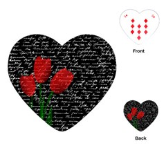 Red tulips Playing Cards (Heart)