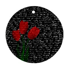 Red tulips Round Ornament (Two Sides)