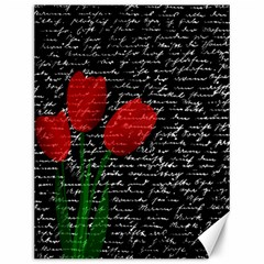 Red tulips Canvas 12  x 16
