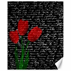 Red tulips Canvas 16  x 20