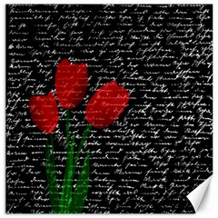 Red tulips Canvas 20  x 20