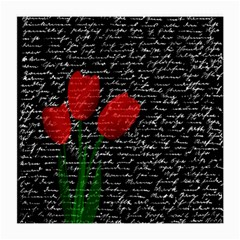 Red tulips Medium Glasses Cloth