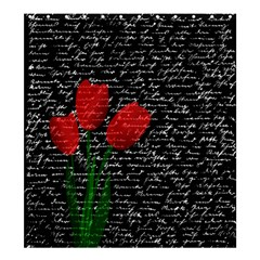 Red tulips Shower Curtain 66  x 72  (Large)