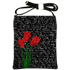 Red tulips Shoulder Sling Bags