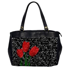 Red tulips Office Handbags (2 Sides)