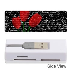 Red tulips Memory Card Reader (Stick)