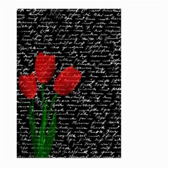 Red tulips Large Garden Flag (Two Sides)