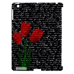 Red tulips Apple iPad 3/4 Hardshell Case (Compatible with Smart Cover)