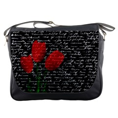 Red tulips Messenger Bags