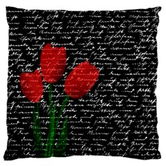 Red tulips Large Cushion Case (One Side)
