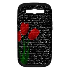 Red tulips Samsung Galaxy S III Hardshell Case (PC+Silicone)