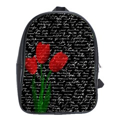 Red tulips School Bags (XL)
