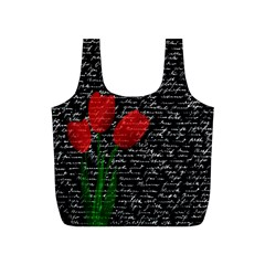 Red tulips Full Print Recycle Bags (S)
