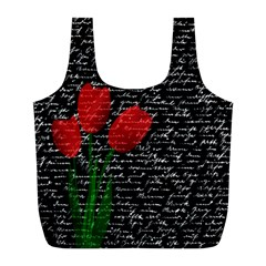 Red tulips Full Print Recycle Bags (L)